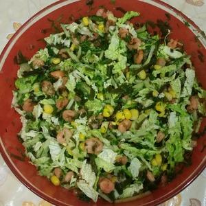 Рецепт Салат с морской капустой и креветками