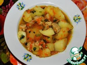 """Рецепт Картошка с мясом """"Традиционная"""""""