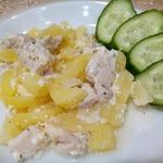 Картошка с нежным куриным филе
