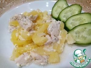 Рецепт Картошка с нежным куриным филе