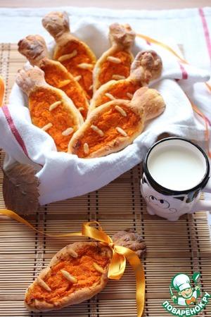 Рецепт Пироги открытые с морковью
