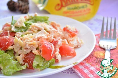 Салат из курицы и помидоров черри рецепты с