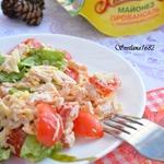 Салат с курицей и помидорами черри