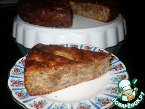 Рецепт Грушевый пирог с грецкими орехами