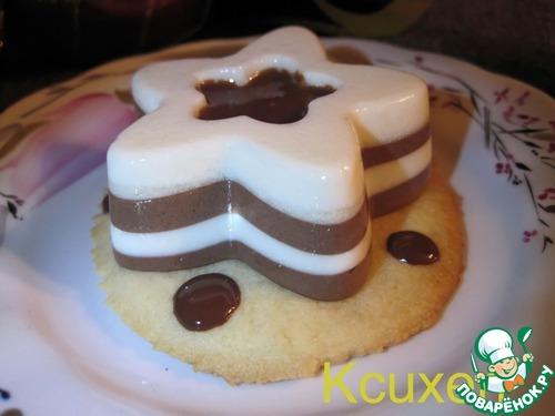 Десерт шоколадно-сливочный