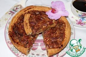 Рецепт Открытый пирог с медово-ореховой начинкой