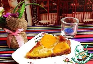 Рецепт Десерт-пирог медовый с персиками