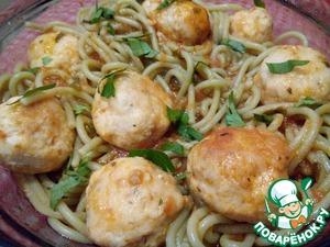 Рецепт Спагетти с мясными шариками в томатном соусе