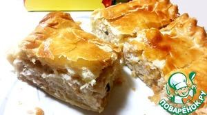 Рецепт Слоеный пирог с курицей и картофелем