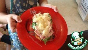 Рецепт Горячий бутерброд с супер соусом