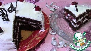 """Рецепт Шоколадный торт """"Зимняя вишня"""""""