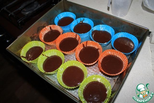 Маффины рецепт шоколадные с шоколадной начинкой