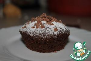 Рецепт Шоколадные маффины с шоколадной начинкой