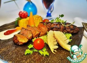 Рецепт Мраморная говядина под майонезным соусом
