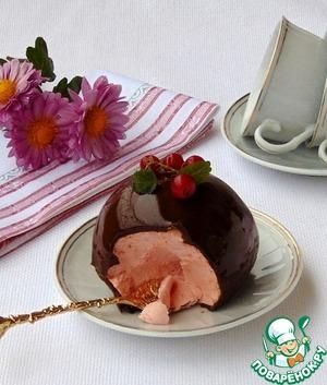 """Рецепт Десерт """"Ягодно-шоколадный шар"""""""