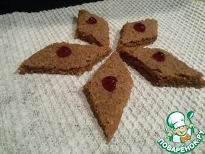 Рецепт Шоколадное песочное печенье с геркулесом