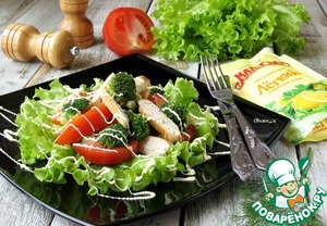 Рецепт Салат из курицы с брокколи