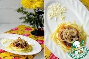 Рецепт Салат с печенью «Осенние краски»