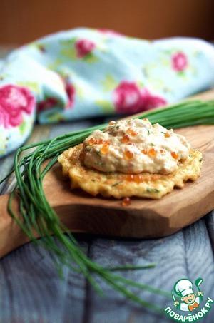 Рецепт Драники с муссом из лосося