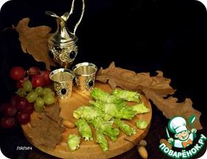 Рецепт Закусочные рулеты с виноградом
