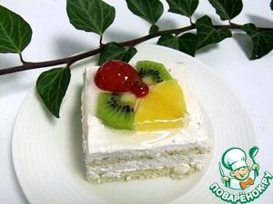 Рецепт Творожно-йогуртовые пирожные с фруктами