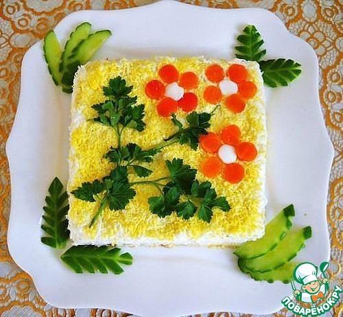 Простые украшения для салатов