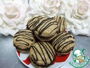 Рецепт Миндальное печенье с шоколадно-сырным кремом