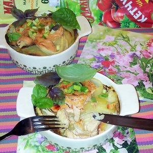 Рецепт Курица в винном маринаде с картофелем