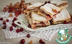 Рецепт Тонкий яблочный пирог с клюквой