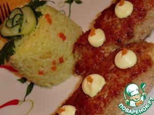 Рецепт Зразы со шпинатно-сырной начинкой