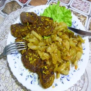 Рецепт Свинина жареная с сельдереем на гарнир