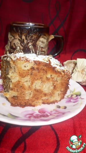 Рецепт Пирог медово-яблочный с орехами