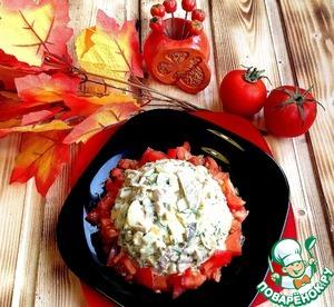 """Рецепт Грибной салат с курицей и сыром """"Нежность"""""""