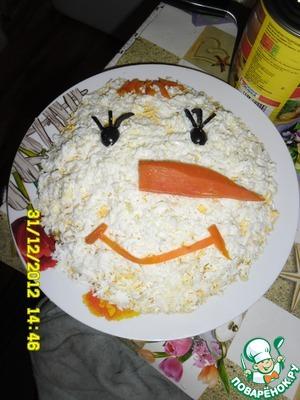 Рецепт Салат Снеговик
