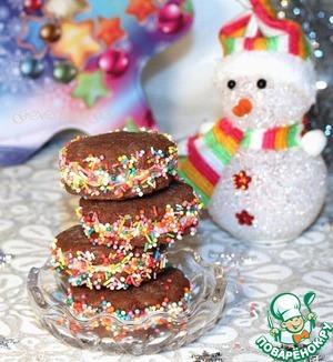 Рецепт Шоколадно-кофейное печенье с начинкой