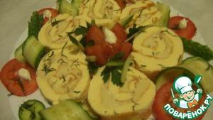 Рулет-омлет вкусный рецепт приготовления с фото
