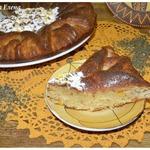 Мятный пирог с хурмой