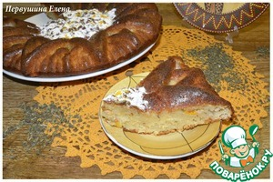 Рецепт Мятный пирог с хурмой