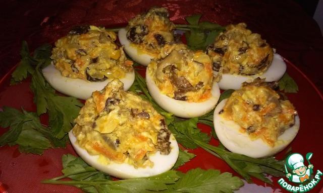 Яйца фаршированные сушеными грибами рецепты