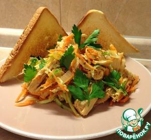 Рецепт Корейский салат из спаржи