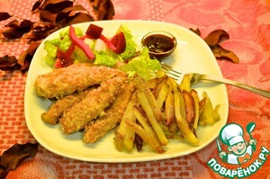 Рецепт Куриные наггетсы с соусом барбекю
