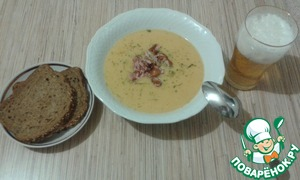 Рецепт Гороховый крем-суп с копчеными крылышками