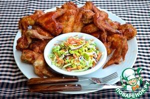 Рецепт Хрустящие крылышки в медовой глазури