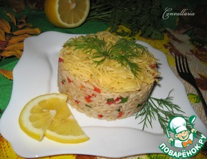 Рецепт Салат с рисом, кольраби и болгарским перцем