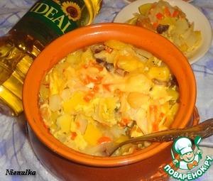 Рецепт Картофель с нектарином в молочно-яичной заливке