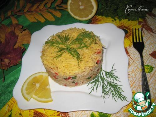 Рецепт салата с болгарским перцем и сыром