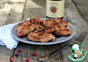 Рецепт Куриные крылышки с брусничной глазурью