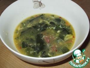 Рецепт Суп из морской капусты с тушенкой