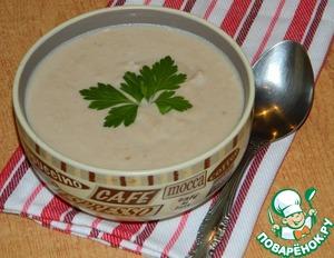 Рецепт Куриный крем-суп с грецкими орехами