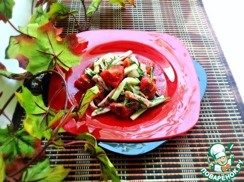 Овощной салат изысканные рецепты фото